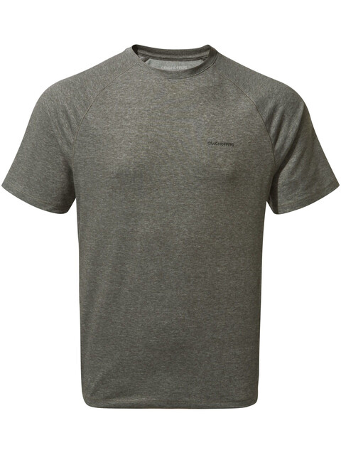 Craghoppers NosiLife Anello Short Sleeved Tee Men Black Pepper Marl